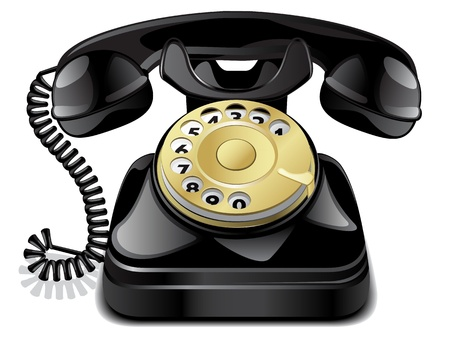 Téléphone vintage vecteur