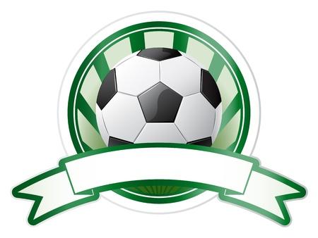 Soccer emblem Stock Vector - 9829146
