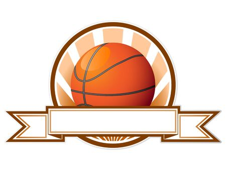 basket ball: Basketball emblem