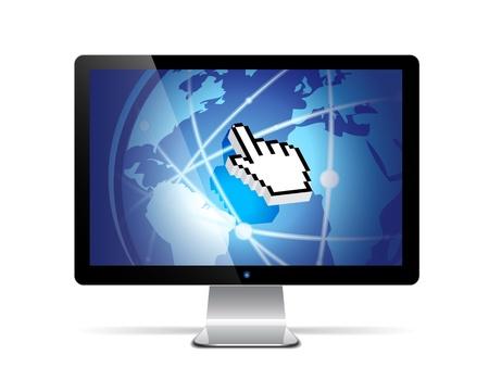 lcd display: Vector computer monitor