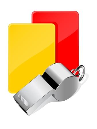 arbitri: Carte e whistle, arbitro attributi