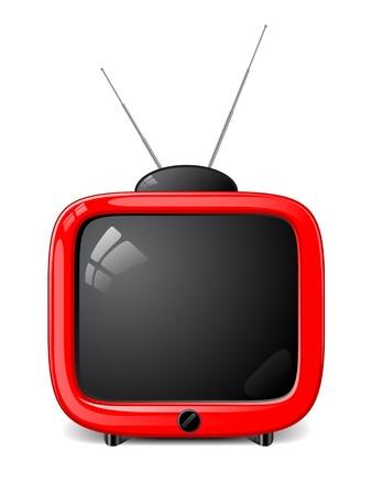tv retro: Stylish vector TV