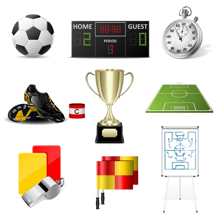soccer icons Stock Vector - 10340155