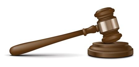 juge marteau: Maillet de juge de vecteur