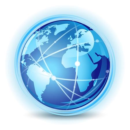 Concept de communication mondiale