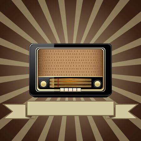 retro radio: Vector old radio Illustration