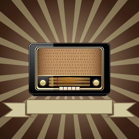 radio retr�: Vector vecchia radio