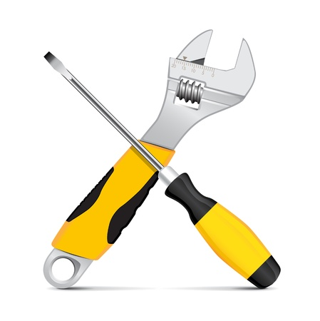 Vector wrench and screwdriver Stock Vector - 12328432