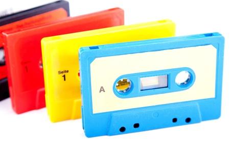 Retro audio cassettes photo