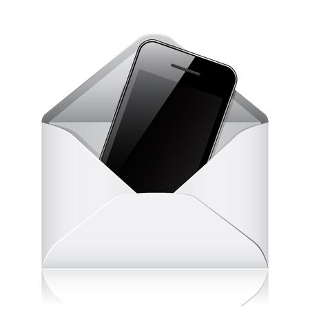 Modern phone in envelope Stock Vector - 14584252
