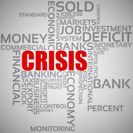 Financial Crisis Concept Stock Vector - 14584250