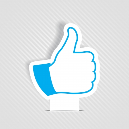 thumbs up:  Like symbol Illustration