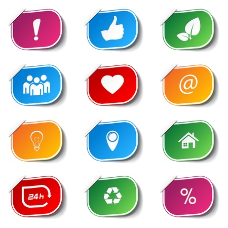 internet icons - labels  Stock Vector - 17718045