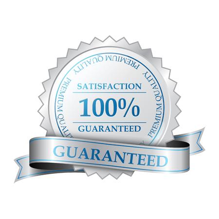 プレミアム品質と顧客満足度の 100 保証ラベル