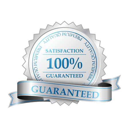 Premium quality and customer 100  satisfaction guarantee label