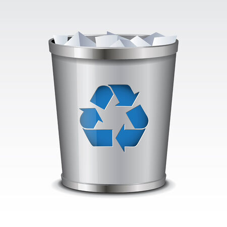 recycle bin: Vector Papelera de reciclaje Icon