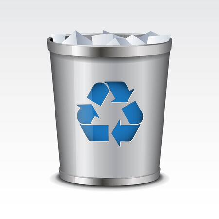 wastebasket: Vector Recycle Bin Icon