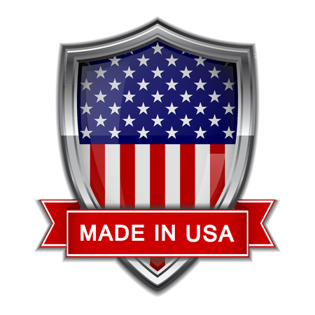 Made in USA  Glossy label