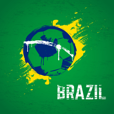 world cup: Brazil 2014 football background  Vector illustration