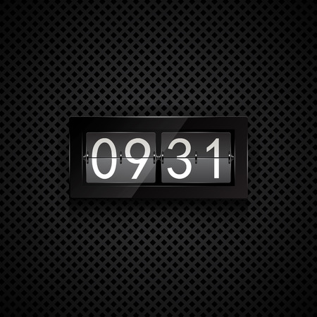 flipboard: Vector illustration of table flip clock display Illustration