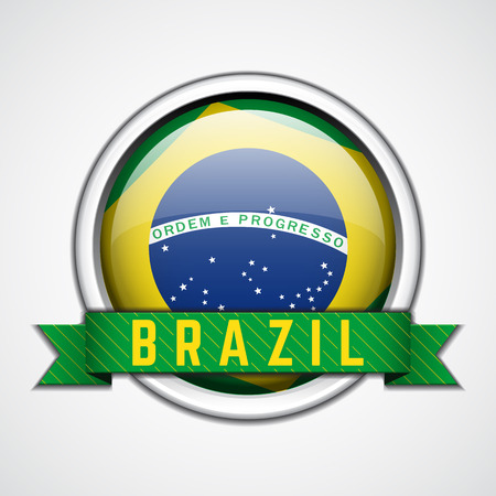 Brazil badge vector illustration Vector
