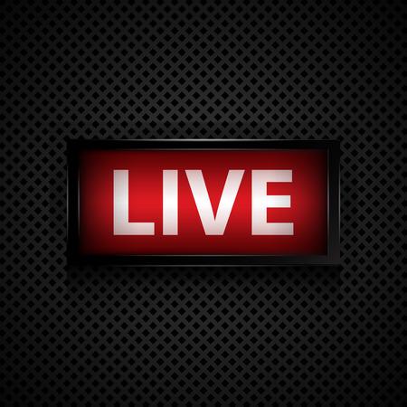 Live-Studio-Nachricht Zeichen Standard-Bild - 29697811