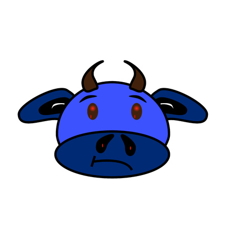 red eyes: blue bull with red eyes :)
