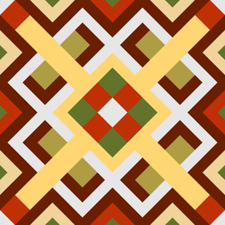 interesting: interesting seamless pattern  with brown, yellow, orange, green Illustration