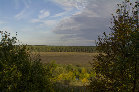 oka: Tula region, river Oka and the trees and the fields round about