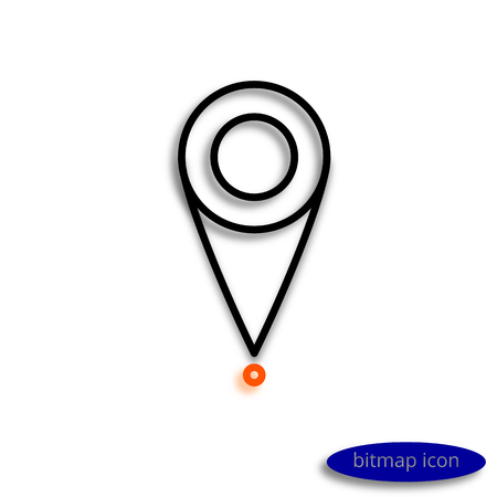 行のグラフィカルなアイコン、キャスト シャドウ マップ上の場所を示すマークです。