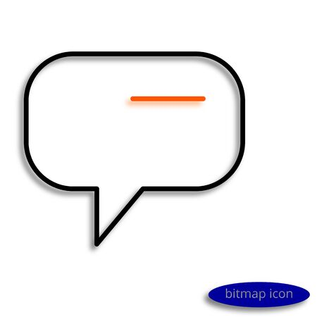 Orange thought came into my head, graphic bitmap linear icon.