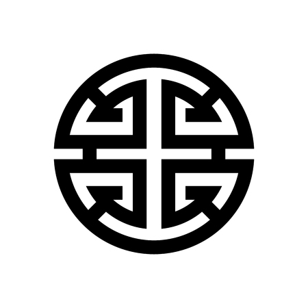 Vector image of the symbol of luck and happiness in Chinese and Feng Shui philosophy.