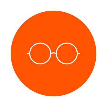Sunglasses, vectorial single colored round linear icon