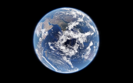 3d rendering of the earth from space, highly detailed planet earth, elements furnished by NASA Stock Photo