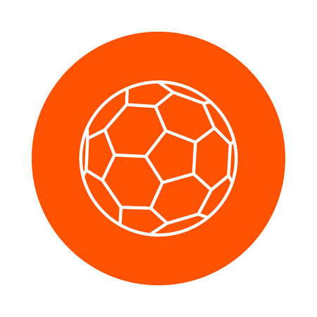 Soccer ball, vector round linear icon, simple color change, flat style