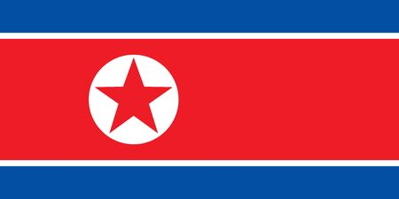 Flag of North Korea in national official colors and proportions, vector
