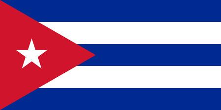 Flag of Cuba illustration.