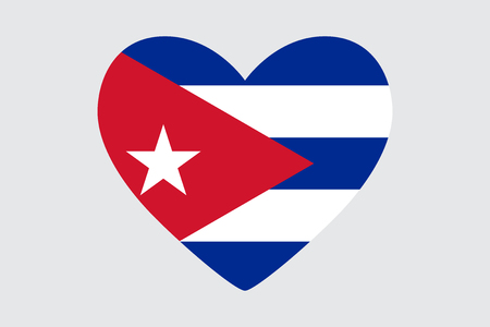 Heart in colors of the Cuba flag