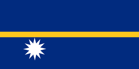 Flag of Nauru in national colors, vector