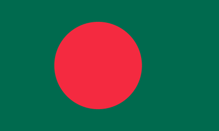 Flag of Bangladesh in national colors vector illustration