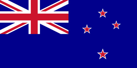 Flag of New Zealand in national colors, vector Illustration