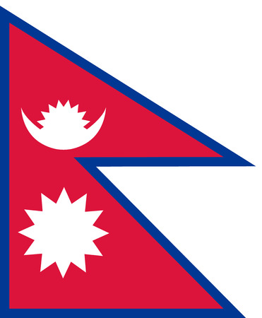 Flag of Nepal in national colors, vector Illustration