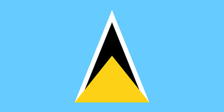 Flag of Saint Lucia in national colors, vector