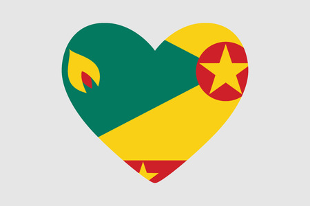 Heart with the flag of Grenada design