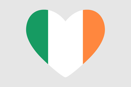 Heart with the flag of Ireland design.
