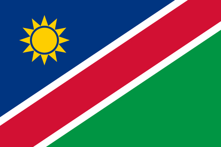 Flag in colors of Namibia, vector image  illustration. Illustration