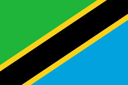 Flag in colors of Tanzania, vector image Ilustração