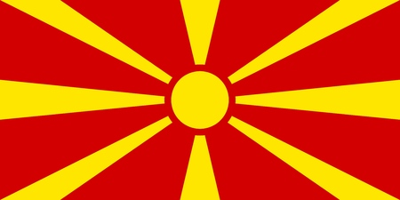 Flag in colors of Macedonia, vector image Illustration