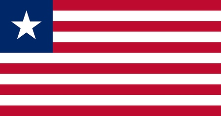 Flag in colors of Liberia, vector image