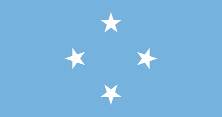 Flag of Federated States of Micronesia official colors and proportions, vector image Illustration